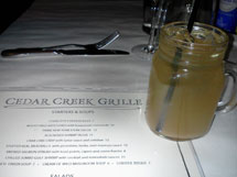 Cocktails at Cedar Creek