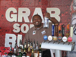 Captain T.N. Bartending At Progressive Field