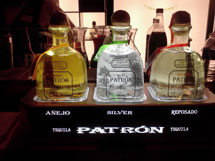 Three Patron Tequilas