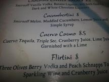 Olivot Twist Cocktail Menu